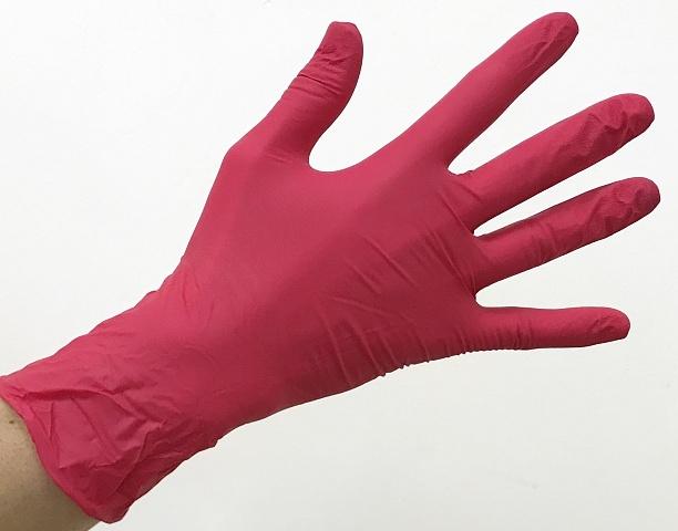 ЧИСТОВЬЕ Перчатки нитриловые красные L 100 шт