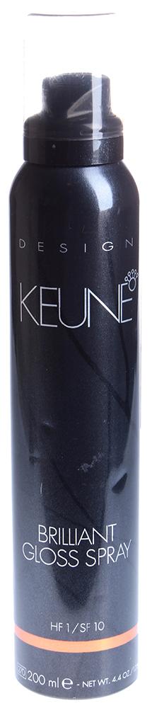 KEUNE Блеск-спрей Бриллиантовый / BRILLIANT GLOSS SPRAY 200млБлески<br>Бриллиантовый блеск-спрей &amp;ndash; концентрированный не утяжеляющий волосы спрей, который придает волосам прекрасный блеск на длительное время. Содержит ультрафиолетовый блеск, который защищает волосы. Имеет приятный свежий запах. Бриллиантовый блеск-спрей подходит для окончательной фиксации прически любого типа. Качества: Придает блеск и выравнивает поверхность волос. Фактор фиксации 1. Приятный запах. Активный состав: УФ-фильтры. Применение: Используйте Бриллиантовый блеск-спрей на сухие волосы после стайлинга и для завершения прически. Для наилучших результатов, при использовании держите блеск-спрей на расстоянии 30 сантиметров.<br><br>Объем: 200<br>Типы волос: Сухие