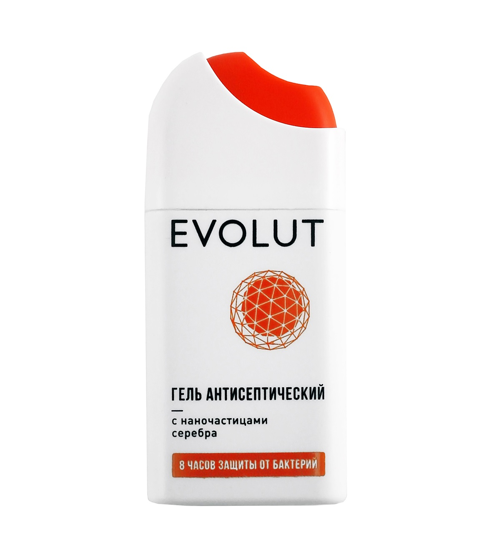 Купить EVOLUT Гель антисептический для рук с наночастицами серебра, боковой спрей 20 мл