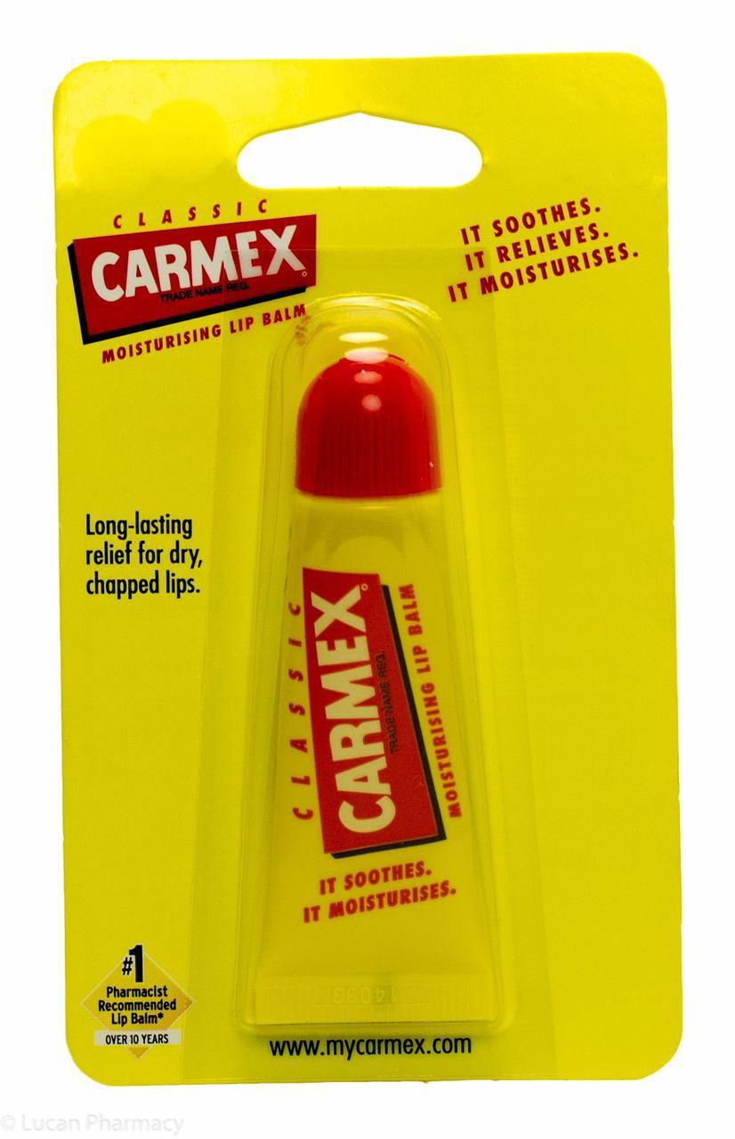 CARMEX Бальзам для губ классический с защитным фактором SPF 15 в тубе / Lip Balm Tube 10гр