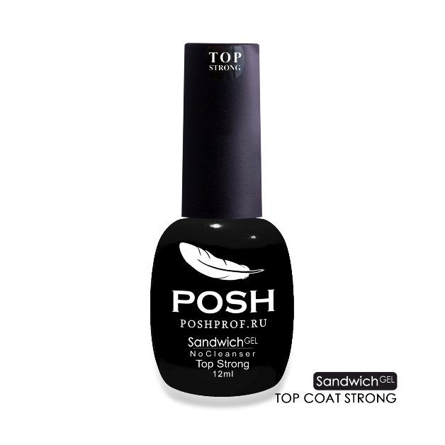 POSH Покрытие верхнее / Top Strong SENDVICH GEL UV/LED 12мл