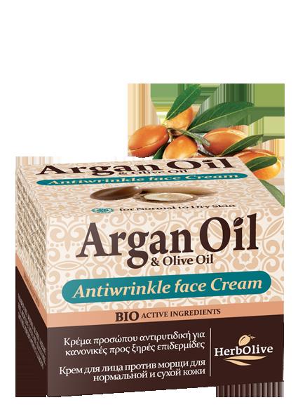 MADIS Крем против морщин для нормальной и сухой кожи / ArganOil 50 мл