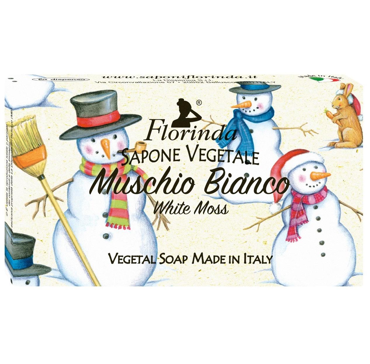 Купить FLORINDA Мыло растительное, белый мускус / Muschio Bianco 100 г