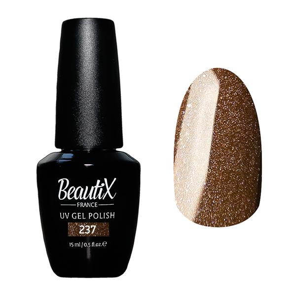 Купить BEAUTIX 237 гель-лак для ногтей 15 мл, Коричневые