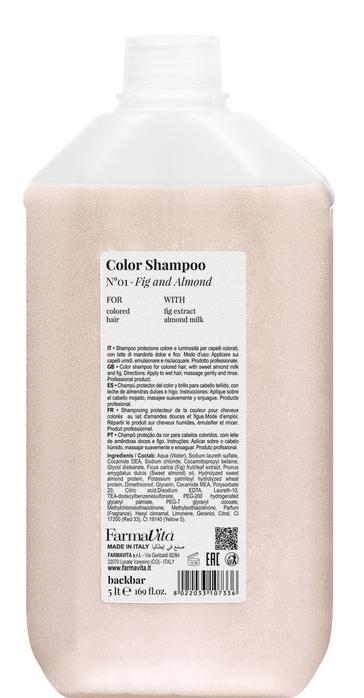 FARMAVITA Шампунь для защиты цвета и блеска волос / BACK BAR COLOR SHAMPOO №01 5000 мл