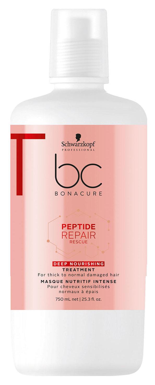Купить SCHWARZKOPF PROFESSIONAL Маска интенсивная питательная для волос / BC Peptide Repair Rescue 750 мл