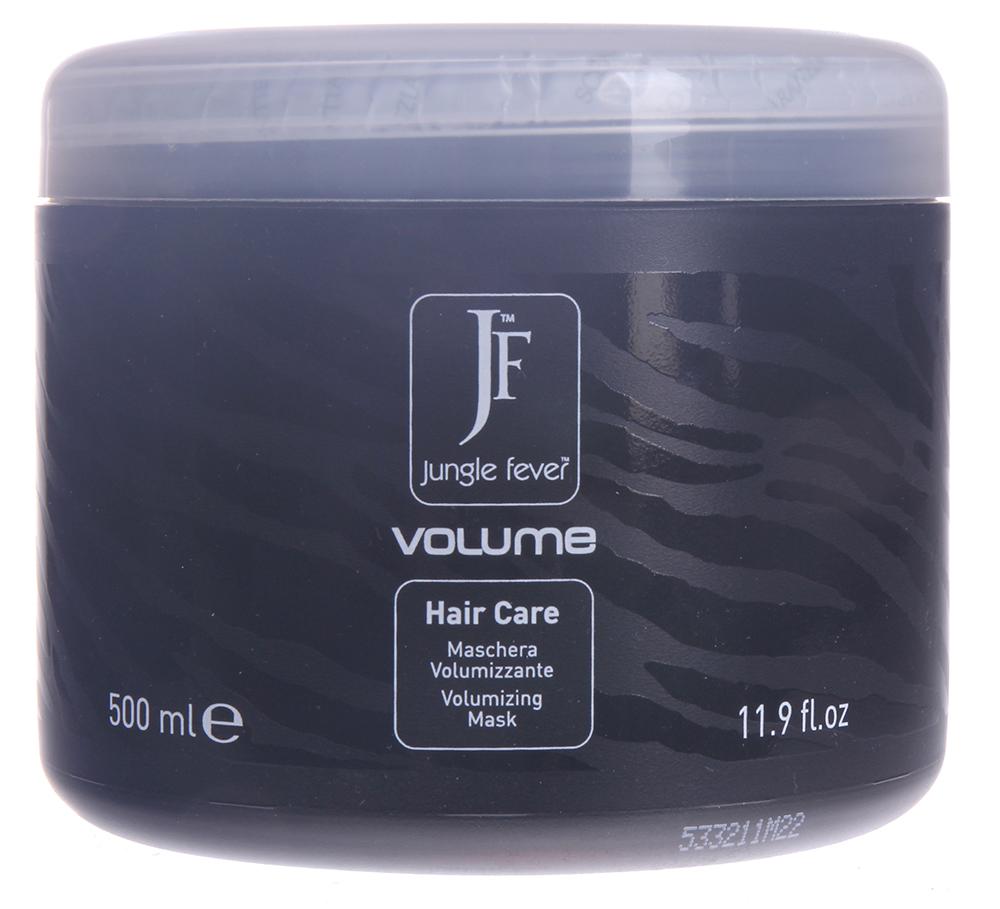 JUNGLE FEVER Маска для объема волос / Volume Mask HAIR CARE 500млМаски<br>Уплотняет структуру волоса у корней и по всей длине, питает, не утяжеляя волосы. Благодаря маслу хлопка и гидролизованному кератину, входящим в состав, волосы становятся объемными, мягкими и легко расчесываются. Активные ингредиенты: масло хлопка, гидролизированный кератин. Способ применения: нанести маску на влажные волосы равномерно по всей длине, включая кончики, выдержать 3-5 мин., затем тщательно смыть теплой водой и приступить к укладке.<br><br>Назначение: Секущиеся кончики