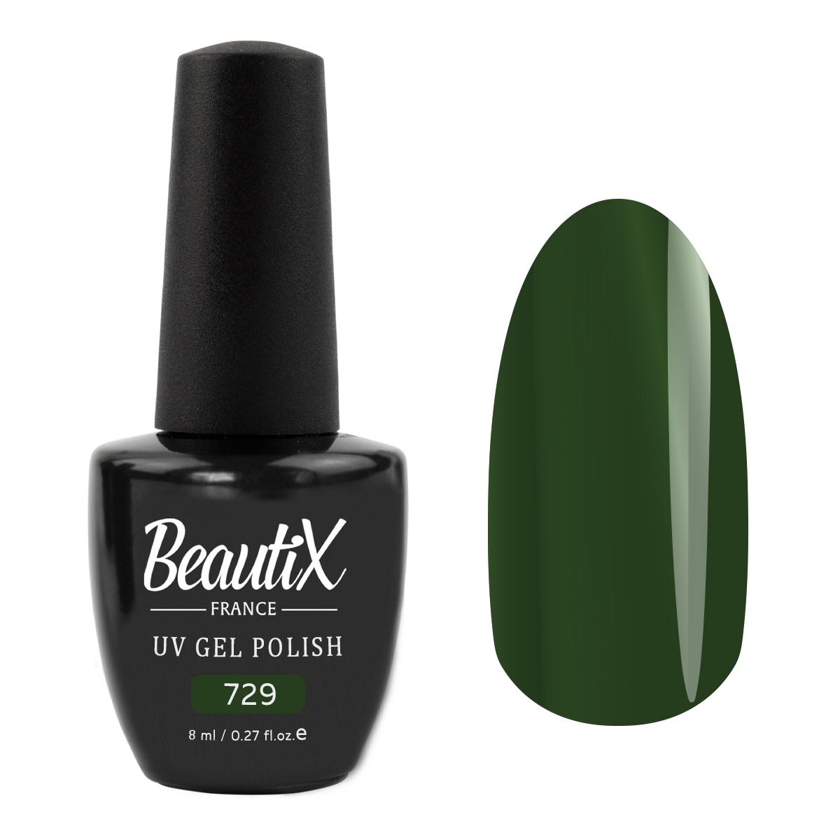 Купить BEAUTIX 729 гель-лак для ногтей / LA SENSATION 8 мл, Зеленые