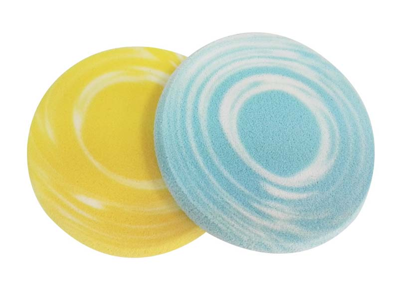 DEWAL BEAUTY Губка для нанесения макияжа круглая, цветная 2 шт