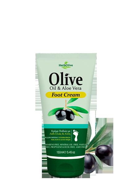 MADIS Крем для ног с алоэ-вера / Herbolive 150млКремы<br>Крем для ног с увлажняющим эффектом. Быстро впитывается в кожу, дарит ногам ощущение свежести и глубокую гидратацию. Содержит органическое оливковое масло и алоэ вера. Активные ингредиенты: масло оливы и алоэ вера. Способ применения: ежедневно.<br><br>Объем: 150 мл<br>Вид средства для тела: Увлажняющий