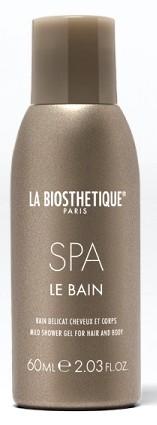 LA BIOSTHETIQUE Гель-шампунь мягкий освежающий для тела и волос / Le Bain SPA 60 мл