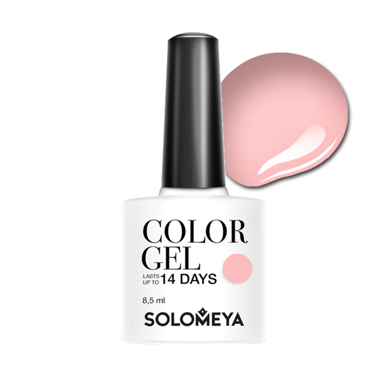 SOLOMEYA Гель-лак для ногтей SCG020 Чайная роза / Color Gel Tea Rose 8,5 мл толстовка mishka fl13 1206a black m