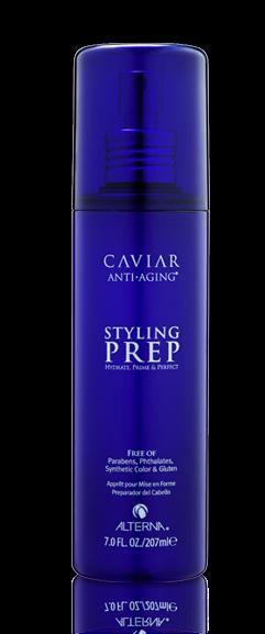 ALTERNA Спрей-база для стайлинга / Alterna Caviar Anti-aging Styling Prep Tester 207млСпреи<br>Легкий термозащитный спрей для формирования натуральной естественной текстуры волос. Содержит экстракты родиолы, васаби, фенхеля и гидролизованного кератина, которые обеспечивают высочайшую степень защиты волос и кожи головы от термального воздействия. Способствует предотвращению деградации цвета и борется с видимыми признаками старения волос благодаря комплексам Color Hold и Age Control. Комплекс Age Control способствует укреплению волос, придавая им прочность и эластичность. Идеален для химически обработанных волос. Активные ингредиенты: экстракты родиолы, васаби, фенхеля, гидролизованного кератина, комплексы Color Hold и Age Control. Способ применения: распылить на чистые влажные волосы. Выполнить укладку.<br>