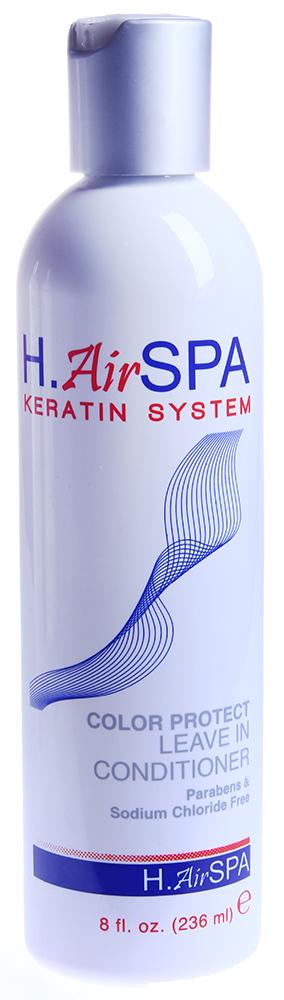 H AIRSPA Кондиционер несмываемый для окрашенных волос / Color Protect Leave-in Conditioner 236млКондиционеры<br>Распутывает, разглаживает и смягчает волосы. Облегчает расчесывание. Насыщает протеинами и питает волосы. Защищает от потери цвета, защищает от статического электричества. Способ применения: разотрите небольшое количество Кондиционера в ладонях и равномерно распределите по длине чистых, вымытых Шампунем и подсушенных полотенцем волос. Не смывайте. Укладывайте волосы как обычно.<br><br>Вид средства для волос: Несмываемый<br>Типы волос: Окрашенные<br>Назначение: Секущиеся кончики