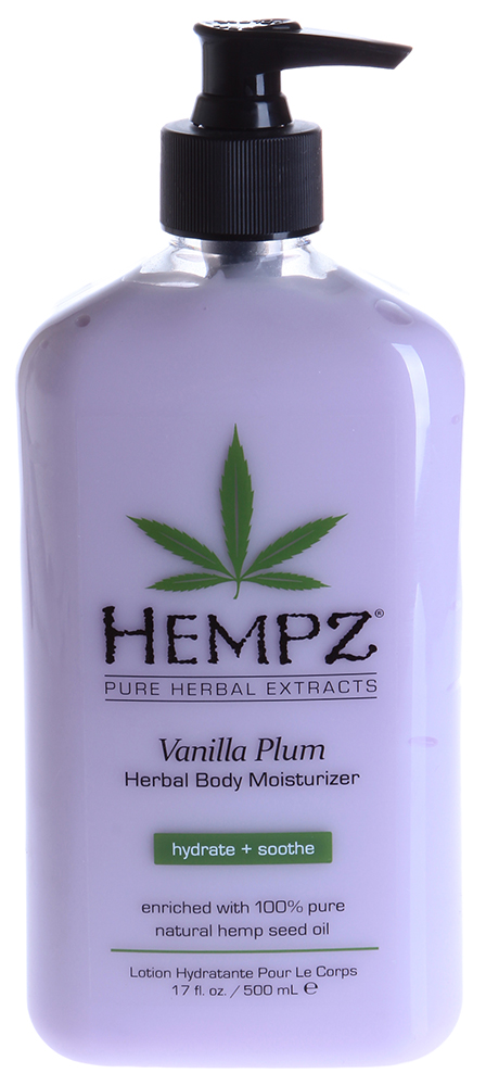 HEMPZ Молочко увлажняющее для тела Ваниль и слива / Vanilla Plum Herbal Body Moisturizer 500мл