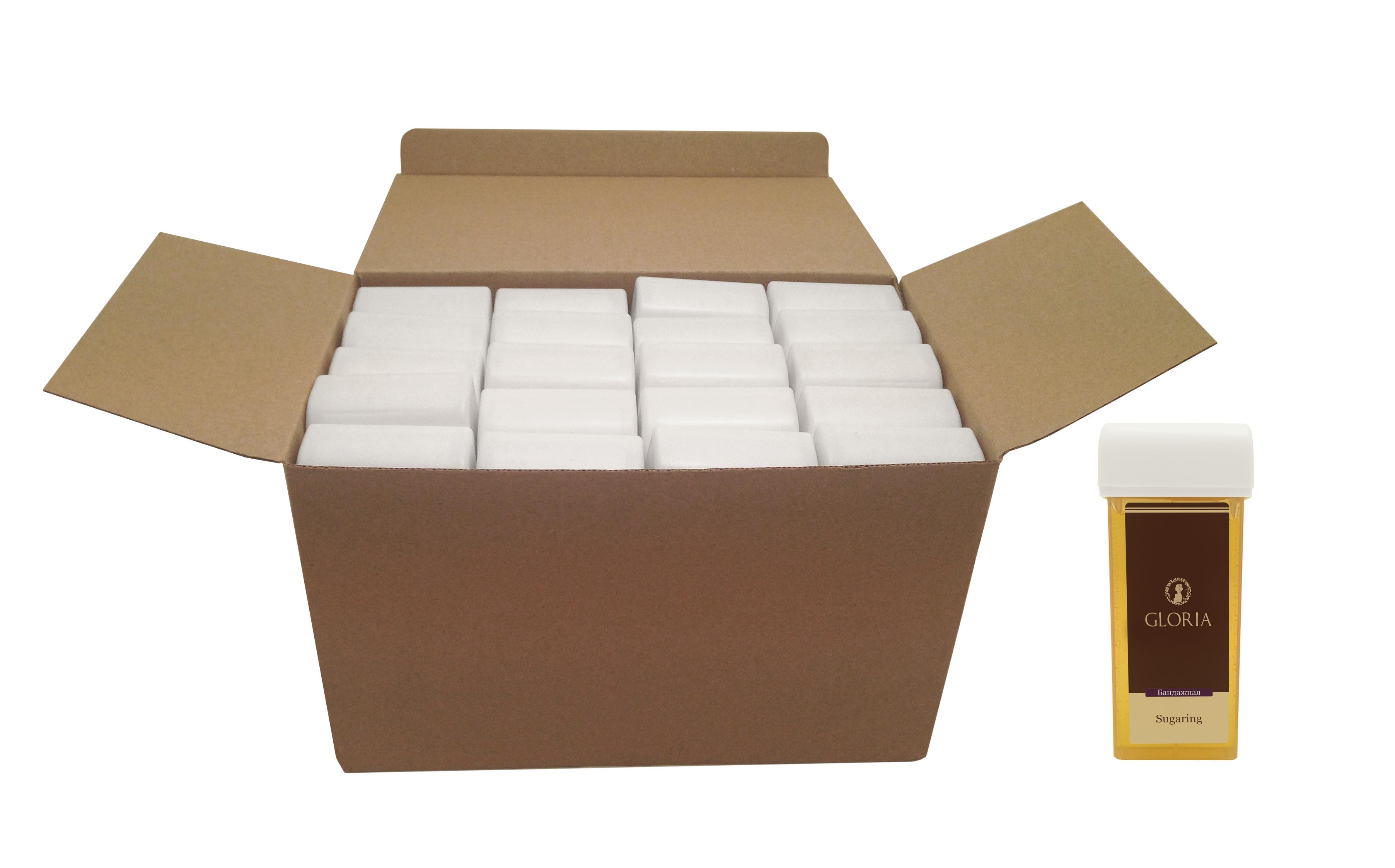 GLORIA Паста сахарная для депиляции Бандажная / GLORIA, коробка, в картридже 20 шт.