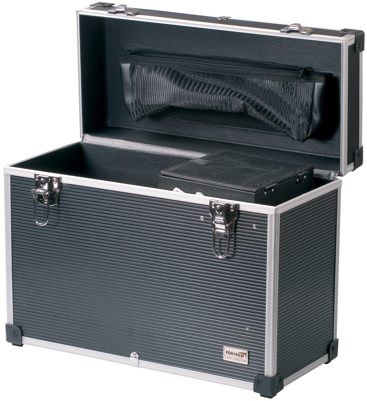 Dewal professional чемодан для парикмахерских инструментов, пластик, серый 45х20,5х36 см