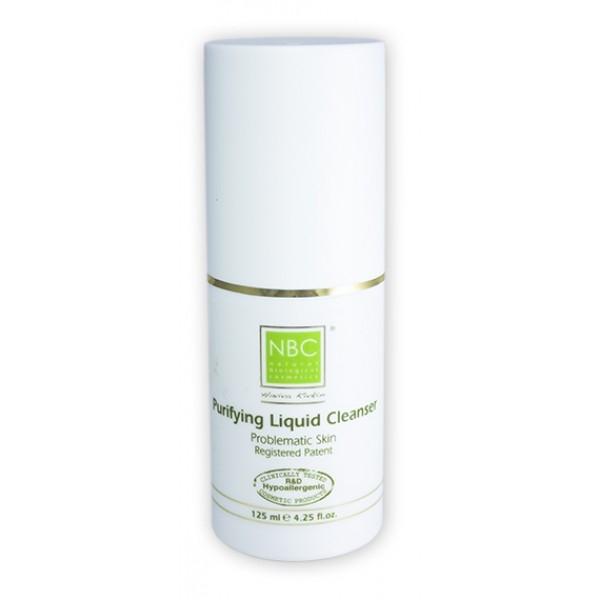 NBC Haviva Rivkin Мыло жидкое / Purifying Liguid Cleanser 125млМыла<br>Жидкое мыло, обладающее особым составом, прекрасно дезинфицирует кожу, нормализует функцию сальных желез, отбеливает её, сокращает поры. Предотвращает накапливание жира в порах, окисление и образование угрей.Активные ингредиенты: содиум лаурил сульфат, перекись водорода, содиум хлорид, глицерил, камфора.Способ применения: рекомендуется пользоваться утром и вечером. Нанесите 6-8 капель мыла и массировать подушечками пальцев, затем смыть водой.<br>