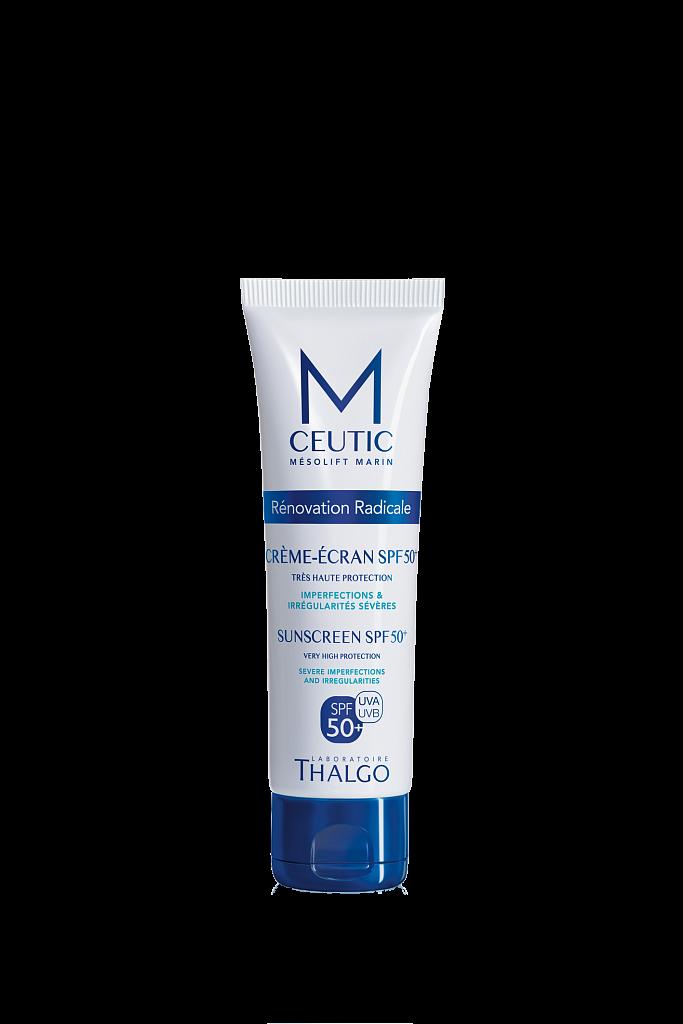 THALGO Крем-экран био-защитный SPF50+ 50млКремы<br>Обеспечивает 100% невидимую и оптимальную защиту кожи. Поддерживает здоровое состояние кожи. Некомедогенный крем. Не оставляет белого следа на коже, не жирный. Активные ингредиенты: запатентованный Sun'Ytol Future® - натуральный морской фильтр, комплекс синтетических фильтров.<br><br>Защита от солнца: None<br>Вид средства для лица: Защитный