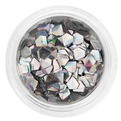 Декор оригами-алмазы, в баночке 06