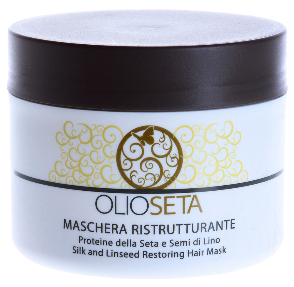 BAREX Маска восстанавливающая с керамидами и протеинами шелка / OLIOSETA 250млМаски<br>Рекомендуется для ухода за сухими, ослабленными, поврежденными волосами. Возвращает силу и наполненность истощенным, пористым волосам, испытавшим химическое воздействие. Маска оказывает двойное действие: Проникая внутрь, восстанавливает и усиливает структуру волоса; Оказывая поверхностное воздействие, делает волос эластичным и сильным, облегчает расчесывание и укладку, делая его более красивым и мягким. Активные ингредиенты: Керамиды растительного происхождения из семян подсолнечника. Протеины шелка. Пантенол. Кондиционирующие вещества. Способ применения: Равномерно нанести маску на вымытые и просушенные полотенцем волосы, аккуратно промассировать и расчесать. Оставить для воздействия на несколько минут. Сполоснуть водой. Перейти к укладке продуктами линии Олиосета.<br><br>Объем: 250<br>Вид средства для волос: Восстанавливающий