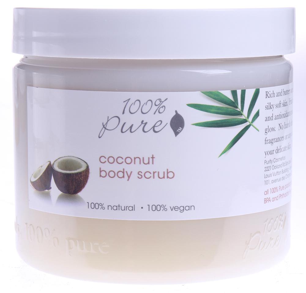 100 PURE Скраб органический для тела Кокос / Body Scrubs BATH  BODY CARE 473мл