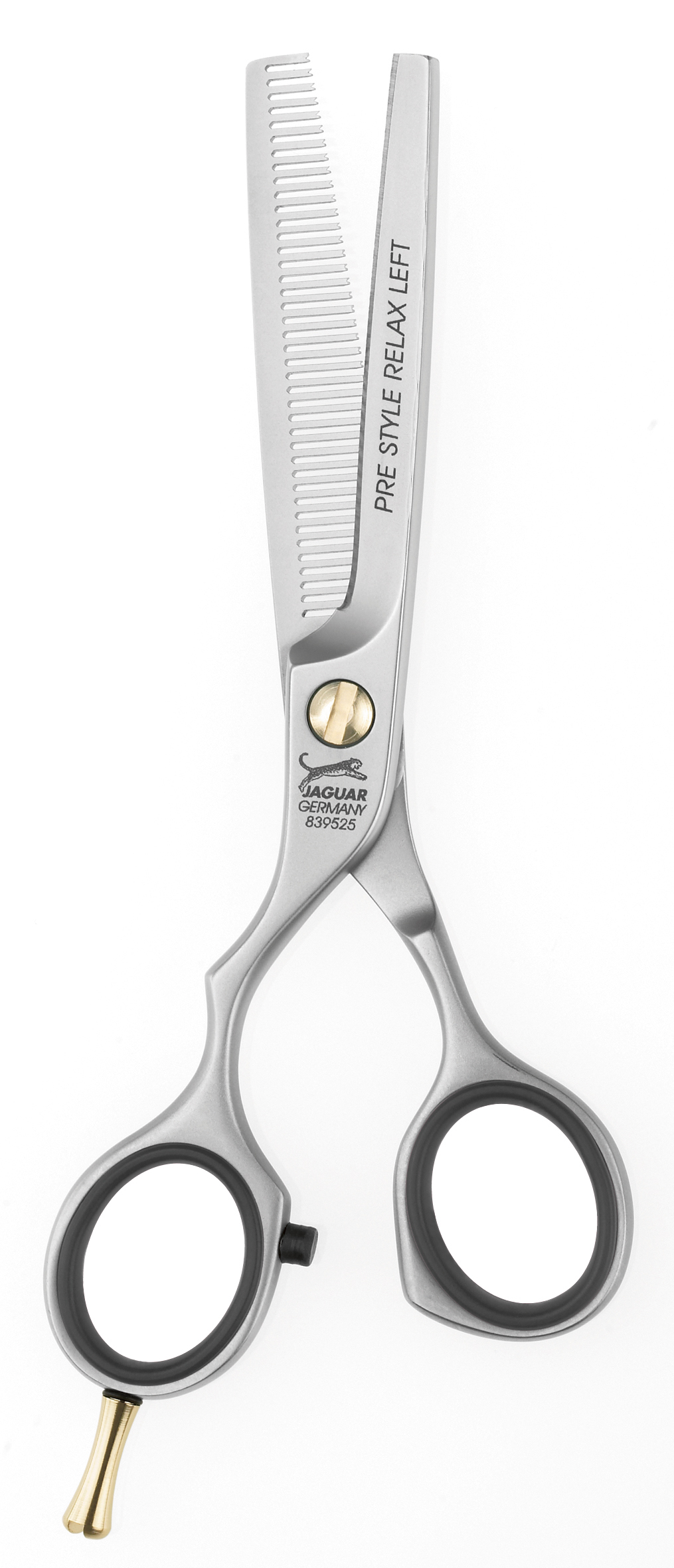 """JAGUAR Ножницы филир.Pre Style Relax Left 5.25 Pre StaleНожницы <br>RELAX LEFT 5.25"""" = 13.5 cm Филировочные ножницы, 28 зубцов с микронасечкой. Полуэргономичный дизайн обеспечивает эргономичное расположение ручек и возможность работы без напряжения. Глянцевая отделка. Длинна полотен ножниц : 13,5 см.<br><br>Класс косметики: Профессиональная"""