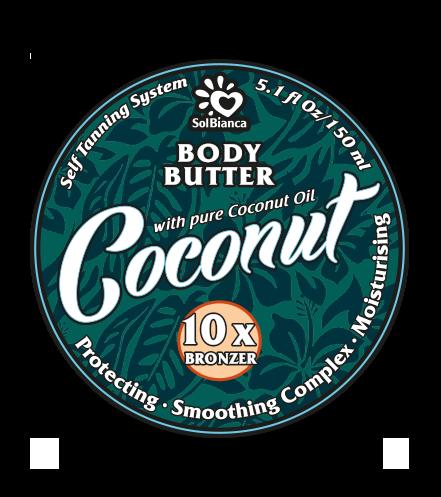 SOLBIANCA Масло твердое с маслом кокоса и бронзаторами для загара в солярии / Coconut 150 мл