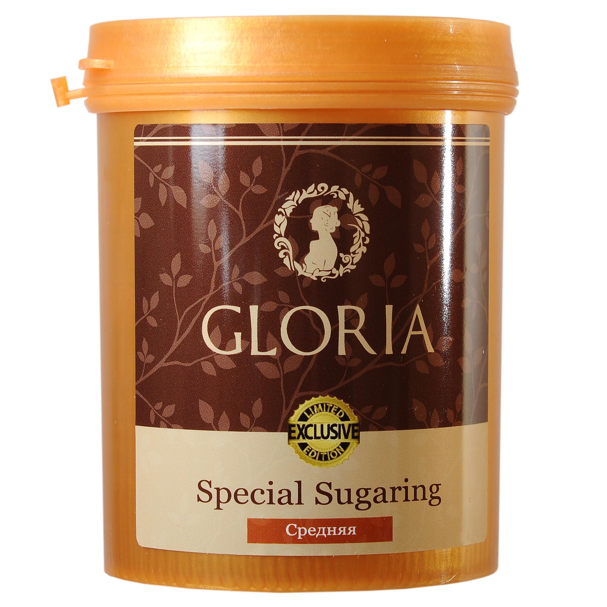 GLORIA Паста для шугаринга Gloria Exclusive средняя 0,8 кгСахарные пасты<br>Вокруг состава пасты для шугаринга, а точнее наличия или отсутствия в ней лимонной кислоты, ходит много споров. Компания GLORIA приняла решение выпустить пасту GLORIA EXCLUSIVE не только без лимонной кислоты, но и с включением дополнительных полезных ингредиентов. Паста для шугаринга средняя Gloria EXCLUSIVE предназначена для удаления жёстких волос на руках, ногах и других участков тела с невысокой температурой тела, а также для удаления умеренно жёстких волос в зоне бикини и подмышечных впадинах. Преимущества : 1. Не содержит лимонную кислоту 2. Уникальная формула с ионами серебра 3. Абсолютно натуральный продукт 4. Гипоаллергенная&amp;nbsp; 5. Гигиенична 6. Безопасна Активные ингредиенты: вода, глюкоза, фруктоза, лимонный сок. Способ применения:&amp;nbsp;на предварительно очищенную и обезжиренную кожу нанести небольшое количество пасты в направлении, противоположном направлению роста волос. Резким движением оторвать пасту вместе с нежелательными волосками, второй рукой натягивая кожу в противоположную сторону. По окончании процедуры остатки пасты удалить влажной салфеткой. Количество процедур:&amp;nbsp;25-30<br><br>Объем: 0,8 кг