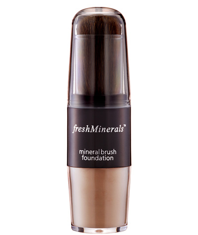 FRESH MINERALS Пудра-основа с кистью Warmer / Mineral Brush Foundation 3,9гр