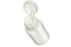 RuNail Помпа для жидкости (полупрозрачный пластик) 120 млБаночки<br>Емкость из пластика для хранения жидкостей. Предотвращает распространение запахов в помещении и случайное проливание жидкости.<br>