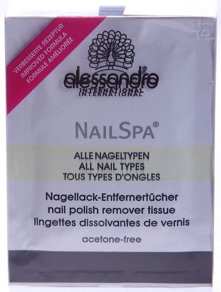 ALESSANDRO Салфетки без ацетона для снятия лака / Nail Polish Remover Wipe NAILSPA