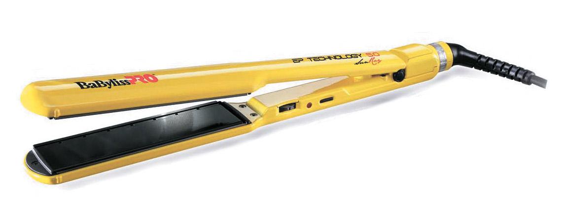 BABYLISS Щипцы-выпр.Bab SunRay 38x120мм BAB2073EPYE 61W(04168)Щипцы-выпрямители<br>BABYLISS PRO SunRay Пластины с новой технологией EP TECHNOLOGY 5.0. Подходят для работы на сухих и влажных волосах. Ширина пластин 38 мм, длина – 120 мм. Регулировка температуры 115-140-170-200-230С°. Мощность 61W. Вращающийся шнур длиной 2,7 метра. В комплекте силиконовый термостойкий коврик. Предназначены для выпрямления волос.<br>