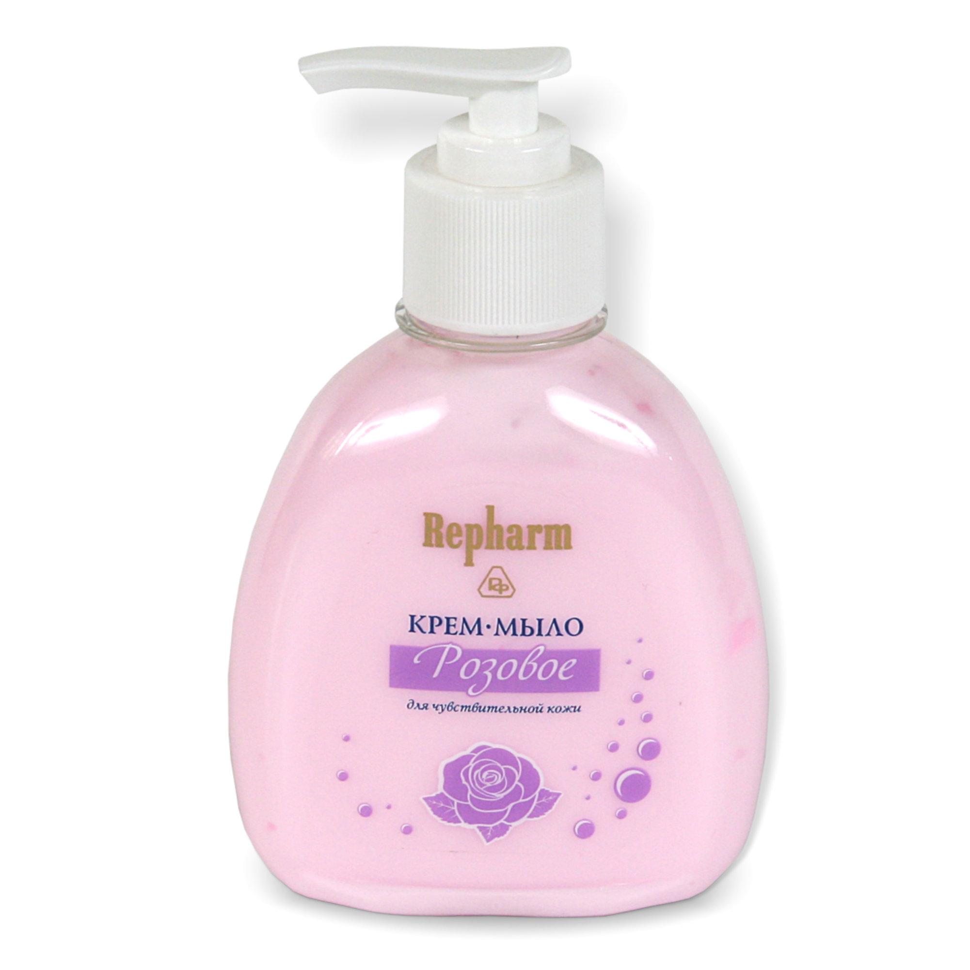 РЕФАРМ Крем-мыло для чувствительной кожи  РОЗОВОЕ  / Repharm 200млКремы<br>Для очищающего ухода за чувствительной кожей. Приготовлено на кремовой рН-нейтральной основе, которая смягчает и питает кожу. Удаляет загрязнения и макияж, не нарушая естественного липидного баланса. Способ применения: рекомендуется использовать вместо мыла при умывании.<br><br>Тип: Крем-мыло<br>Объем: 200 мл<br>Вид средства для лица: Очищающий<br>Типы кожи: Чувствительная