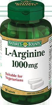 NATURES BOUNTY L-Аргинин, таблетки 1000 мг № 50