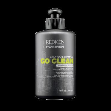 REDKEN Шампунь для ежедневного применения Гоу Клин/ FOR MEN 300млШампуни<br>Redken Go Clean Shampoo - шампунь для ежедневного ухода за волосами. Отлично нейтрализует естественные загрязнения волос (кожное сало) и остатки средств для стайлинга. Он дарит волосам мягкость, шелковистость, нежность при касании. С помощью глицерина средство увлажняет, а с помощью провитаминов добавляет блеска.<br><br>Тип кожи головы: Жирная<br>Пол: Мужской<br>Время применения: Дневной