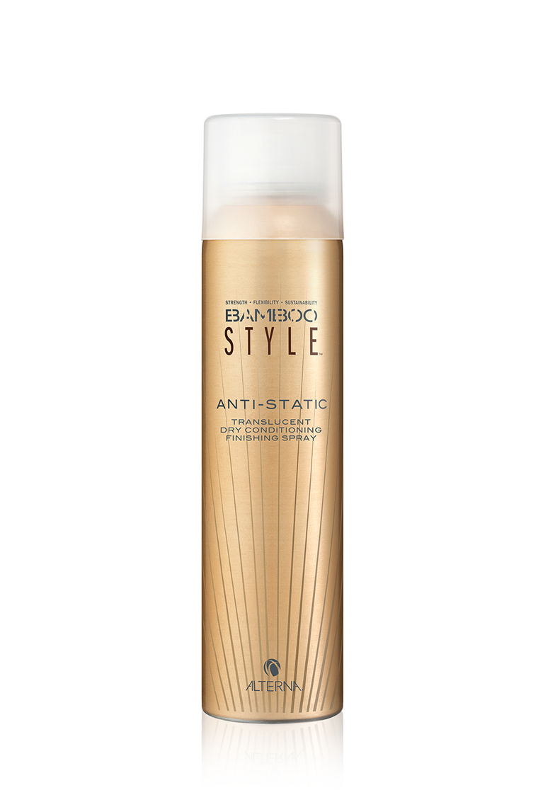 ALTERNA Спрей полирующий с антистатическим эффектом / Style Anti-Static Translucent Dry Conditioning Finishing Spray BAMBOO 170 мл alterna лак сильной фиксации caviar anti aging extra hold hair spray 400ml