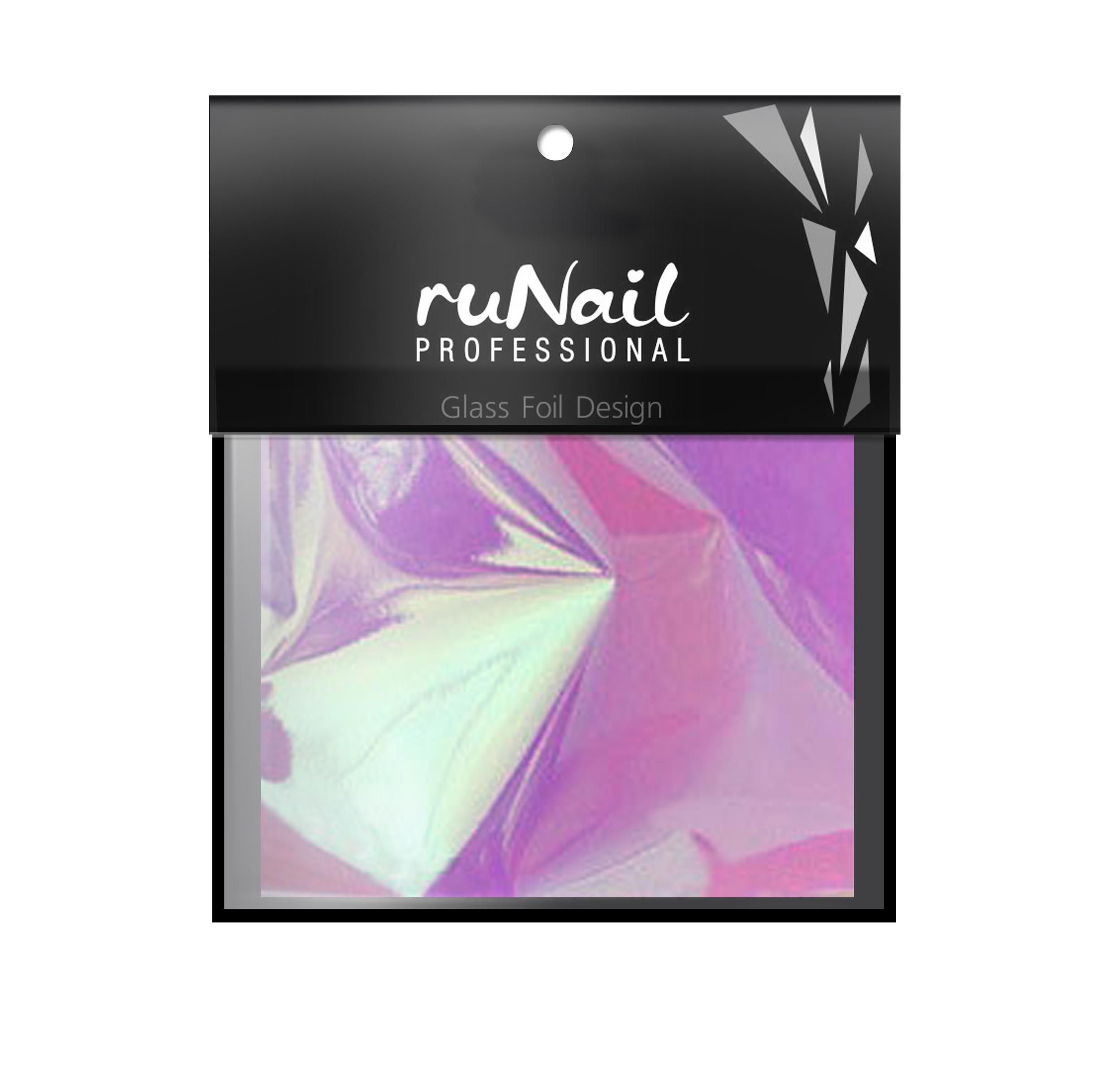 """RuNail Дизайн для ногтей: фольга с эффектом """"Битое стекло""""(цвет сиреневый), 4х100см"""