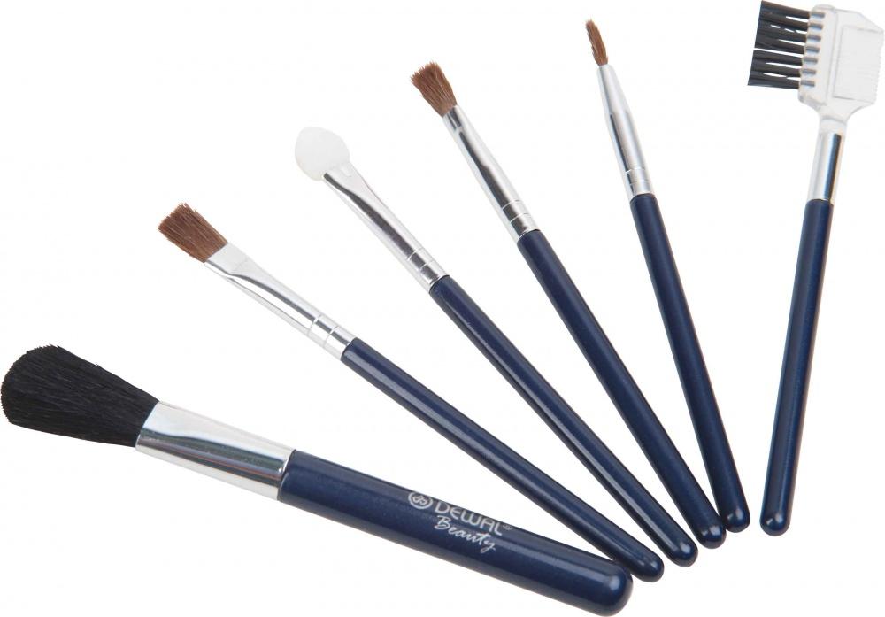 DEWAL BEAUTY Набор косметических кистей маленький 6 шт/уп dewal beauty набор мини кистей для нанесения макияжа 5 шт