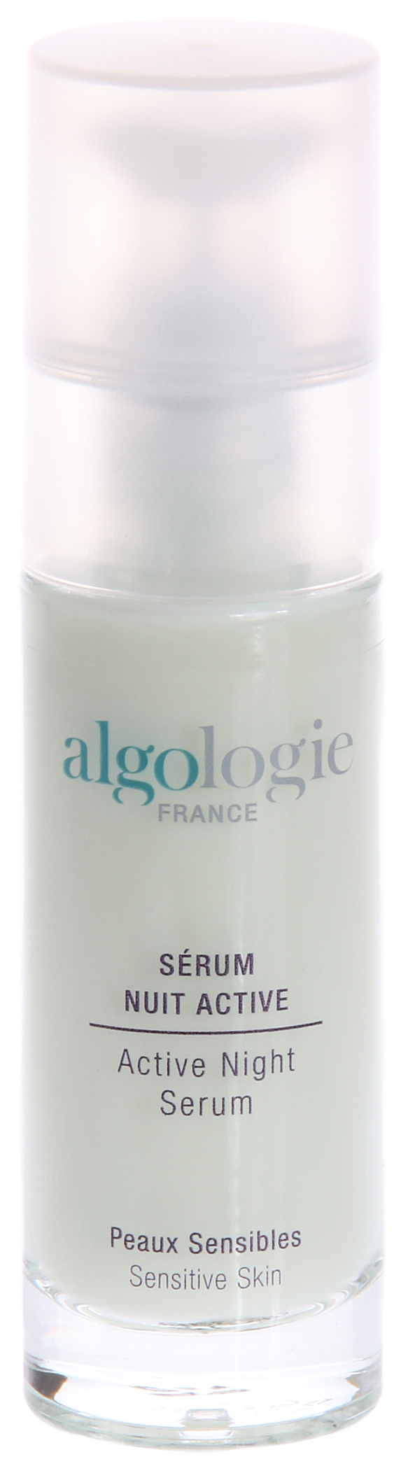 ALGOLOGIE Сыворотка активная ночная 30млСыворотки<br>Эффективный препарат для глубокого восстановления кожи. Имеет жидкую консистенцию и приятный фисташковый цвет. Содержит весь спектр полезных веществ, необходимых коже. Расслабляет кожу, снимая следы стресса, глубоко питает и увлажняет ее. Обладает противовоспалительным и антисептическим действием, обеспечивает защиту кожи. Действует на клеточном уровне, обновляя клетки. Тонизирует и омолаживает кожу.  Активные ингредиенты: Энтелин 2, эпалин 100, масло виноградных косточек, гель алоэ вера, экстракт ромашки, экстракт василька, экстракт календулы, экстракт липы, пантенол, эфирное масло майорана, эфирное масло сандалового дерева, эфирное масло дерева хо.  Способ применения: Применяйте сыворотку ночную активную от Algologie ежедневно по вечерам. Нанесите небольшое количество сыворотки на кожу лица, шеи и области декольте.<br><br>Объем: 30<br>Типы кожи: Чувствительная<br>Время применения: Ночной