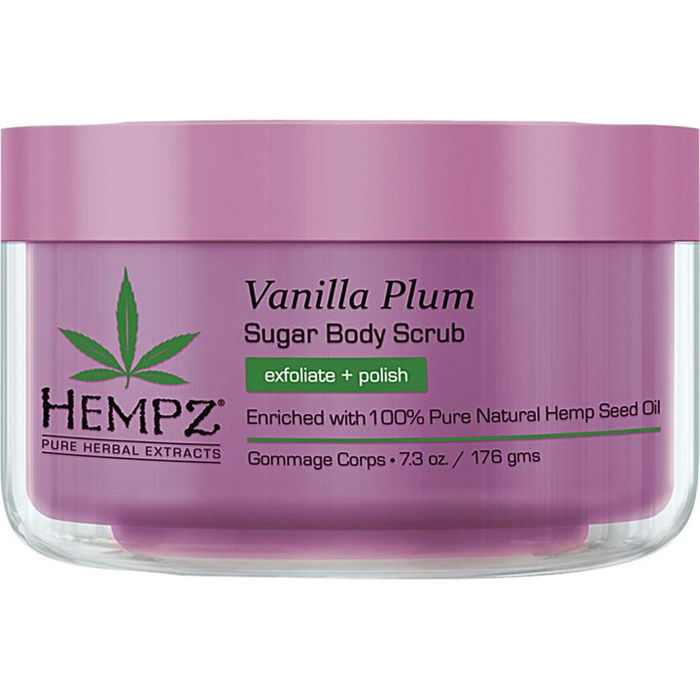 HEMPZ Скраб для тела, ваниль и слива / Vanilla Plum Herbal Sugar Body Scrub 176 г - Скрабы