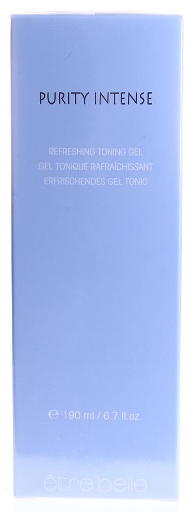 ETRE BELLE Гель-тоник освежающий для комб. склонной к воспал.кожи/ Refreshing Toning Gel Purity Intense 190млТоники<br>Увлажняющий гель-тоник с выраженным противовоспалительным и успокаивающим действиями. Экстремально высокая концентрация активной соли цинка быстро купирует воспалительные реакции. Бисаболол, аллантоин и пантенол быстро успокаивают и насыщают кожу влагой. Экстракт Гамамелиса усиливает противовоспалительный эффект, а также эффективно сужает поры. Активные ингредиенты: пантенол, лактат цинка, молочная кислота, аллантоин, экстракт гамамелиса, бисаболол. Способ применения: небольшое количество продукта нанести на очищенную кожу, излишки средства удалить сухим ватным диском.<br><br>Тип: Гель-тоник