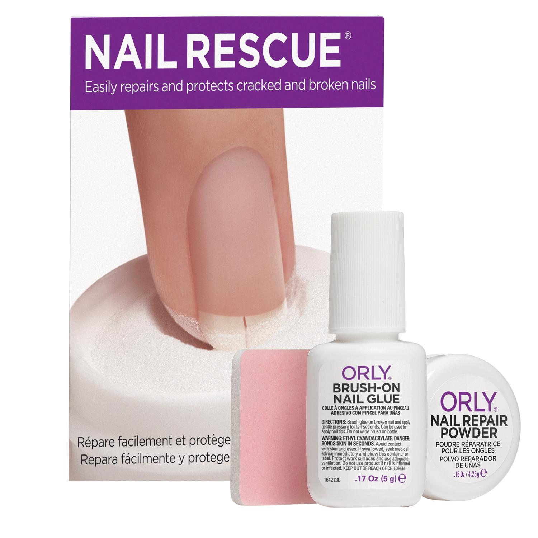 ORLY Набор Скорая ногтевая помощь (клей+пудра) / Nail Rescue KitРемонт<br>Набор состоит из клея-кисточки, пудры для ремонта ногтей и шлифовального блока. Средства из набора Nail Rescue Kit помогут привести в порядок треснувший, расслоившийся или сломанный ноготь. Способ применения: Удалите лак с треснувшего ногтя, затем обезжирьте ногтевую пластину. Нанести на поверхность ногтя клей, затем погрузить ноготь в специальную пудру. После высыхания покрытие полируется шлифовальным блоком. Для особенно крепкого склеивания ногтя повторить нанесение клея и пудры. Перед повторным нанесением клея, удалить излишки пудры и убедиться, что ногти сухие. С чем использовать: Для выравнивания поверхности ногтя используйте базовое покрытие Ridgefiller. Для удаления и растворения клея применяете Artificial Nail Remover. Состав: в набор входят клей-кисточка, пудра для ремонта ногтей, шлифовальный блок. Клей-кисточка: этилцианоакрилат, полиметилметакрилат. Пудра: полиэтилметакрилат, октилакриламид / акрилаты / бутиламиноэтилметакрилат сополимер, кварц.<br><br>Типы ногтей: Поврежденные