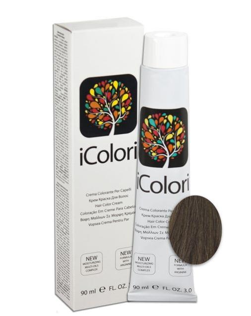 KAYPRO 6.1 краска для волос, пепельный темный блондин / ICOLORI 90 мл
