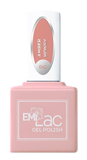 E.MI 062 CE гель-лак для ногтей, Янтарный мед / E.MiLac 6 мл