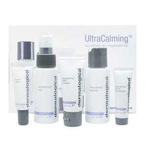 DERMALOGICA Набор для чувствительной кожи / Ultracalming  KitНаборы<br>Набор для чувствительной кожи является великолепным комплектом средств, обеспечивающим полноценный уход для вашей кожи. Тщательно подобранные средства в комплексном использовании гарантируют максимальные результат. Благодаря удобной упаковке, набор легко хранить и брать с собой в поездки. Средства, вошедшие в набор, прекрасно нейтрализуют покраснения, успокаивают кожу и предупреждают возникновение новых воспалений. Благодаря витаминизированной формуле, они мягко ложатся на кожу, легко впитываются, успокаивают воспаления, устраняют покраснения и дискомфортные ощущения, приносят длительное облегчение при острых вспышках покраснения. Состав набора для чувствительной кожи: UltraCalming Cleanser   Ультранежный очиститель UltraCalming (50 ml)&amp;nbsp; UltraCalming relief masque   Успокаивающая маска&amp;nbsp;UltraCalming (15 ml)&amp;nbsp; UltraCalming mist   Успокаивающий спрей UltraCalming (50 ml)&amp;nbsp; UltraCalming serum concentrate   Серум-концентрат UltraCalming (10 ml)&amp;nbsp; Barrier repair   Восстановитель барьера (10 ml)<br><br>Вид средства для лица: Успокаивающий<br>Типы кожи: Чувствительная