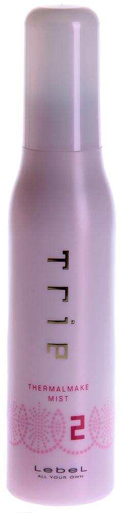 LEBEL Спрей защитный для термо укладки 2 / TRIE THERMALMAKE MIST 2 150млСпреи<br>Защитный спрей для горячей укладки - степень фиксации 2.  Придает волосам гладкость и ослепительный блеск. Отлично увлажняет и питает волосы.  Подходит для создания мягких, естественных локонов или гладких как шелк волос.  Предотвращает потерю влаги в волосах в процессе укладки.  Защищает волосы от негативных факторов окружающей среды.  SPF 15.  Способ применения: Нанести средство по всей длине на подсушенные полотенцем волосы. Подсушить феном. Приступайте к укладке при помощи щипцов или утюжка.<br>