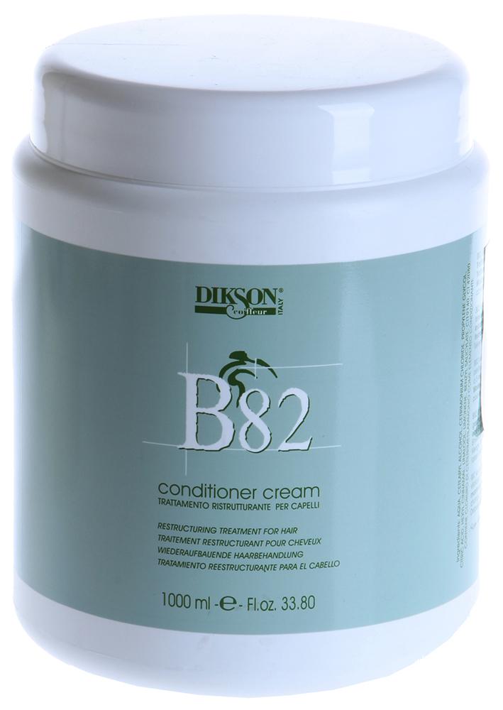 DIKSON Крем-кондиционер Б82 / В82 CONDITIONER CREAM 1000млКондиционеры<br>Интенсивное восстановительное лечение для чрезвычайно сухих и поврежденных волос. Провитамин В5 увлажняет и восстанавливает структуру волос. Увеличивает природное сопротивление волос внешним негативным воздействиям. Рекомендуется не только как маска для интенсивного ухода, но и как постоянный уход для поддержания оптимального состояния волос. Активный состав: Провитамин В5. Применение: Интенсивный уход - для сильно ослабленных волос рекомендуется нанести средство на 10-20 минут и смыть. Постоянный уход - после курса (10-15 минут) и интенсивного ухода рекомендуется пользоваться средством для поддержания оптимального состояния волос, нанося его на 2 минуты.<br><br>Объем: 1000