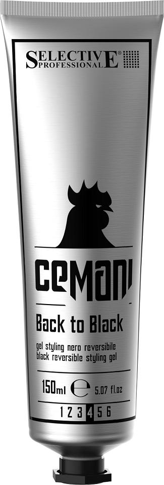 SELECTIVE PROFESSIONAL Гель со смываемым черным пигментом для укладки волос / CEMANI Back to black 150 мл - Гели