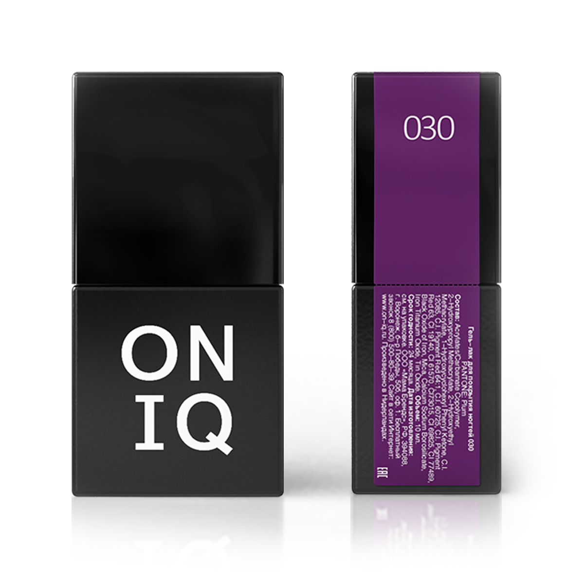 Oniq гель-лак для покрытия ногтей, pantone: plum, 10 мл